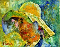 Self Portrait with Sun Hat