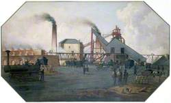 North Eastern Coalfield: Colliery Pit-Head and Coking Ovens