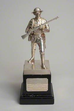 Silver Soldier Statuette