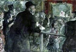 M. Degas at the Guinol