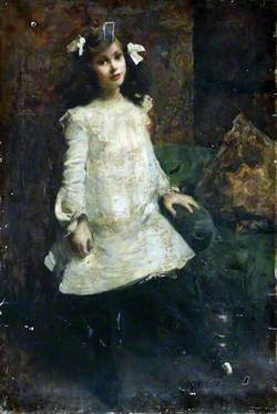 Young Girl in a Cream Dress