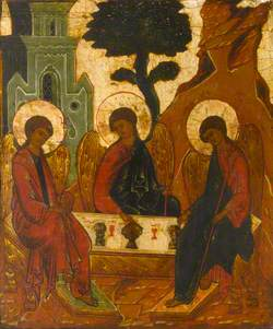 Icon with the Old Testament Trinity