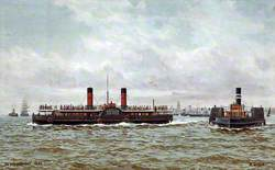 On the Mersey, 1890