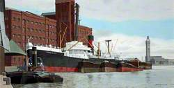 Unloading Grain, East Float, Birkenhead