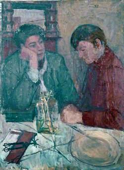 Two Figures in an Interior: Kitchen, Townsend Street, North End, Birkenhead, Wirral