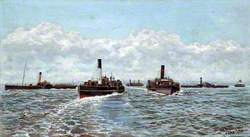 On the Mersey, 1884