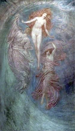 Aphrodite between Eros and Himeros