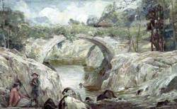 The Roman Bridge over the Lledr at Betws-y-Coed