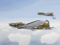 B17s x 4 (230062) Flying Fortress, 100th Bomb Group