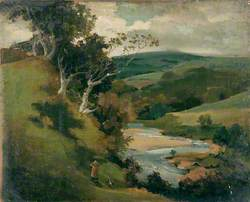 Landscape with a River in Hilly Country
