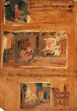 Three Interiors with Figures