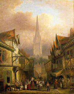 Norwich Cathedral from Cowgate, Norfolk