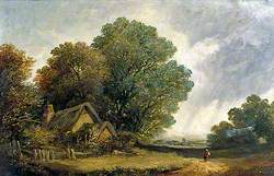Road Scene with a Cottage