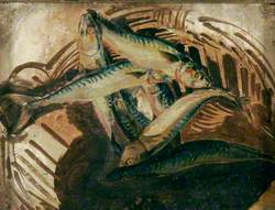 Still Life with a Group of Eight Mackerel in a Broken Basket: A Study on Yarmouth Beach, Norfolk