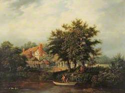 River Bank with Cottage