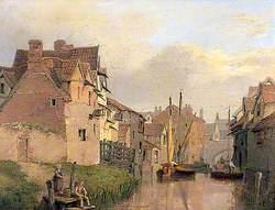 Norwich Scene with Whitefriars Bridge