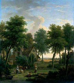 Pastoral Scene with a Peasant Family