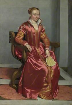 Portrait of a Lady, perhaps Contessa Lucia Albani Avogadro ('La Dama in Rosso')