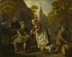 A Village Scene with a Cobbler
