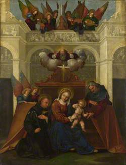 The Holy Family with Saint Nicholas of Tolentino