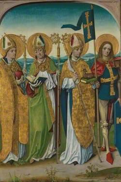 Saints Augustine, Hubert, Ludger (?) and Gereon (?): Reverse of Left Hand Shutter