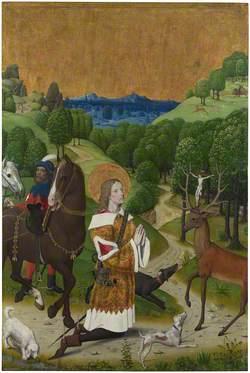 The Conversion of Saint Hubert: Left Hand Shutter