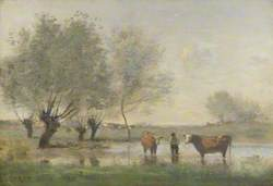Cows in a Marshy Landscape