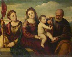 The Madonna and Child with Saint Joseph and a Female Martyr