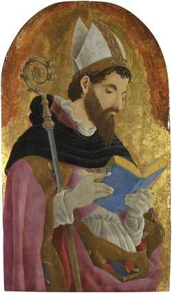 A Bishop Saint, perhaps Saint Augustine