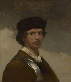 A Young Man in a Fur Cap and a Cuirass (probably a Self Portrait)