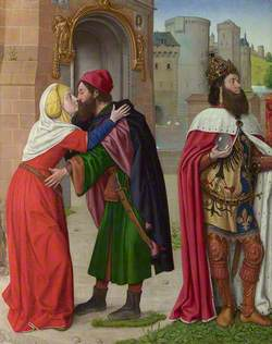 Charlemagne, and the Meeting of Saints Joachim and Anne at the Golden Gate