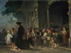 Children at a Church Door
