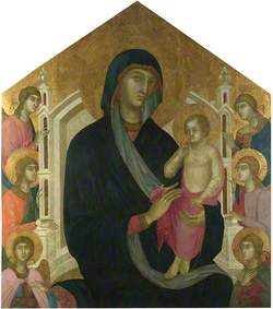 The Virgin and Child with Six Angels