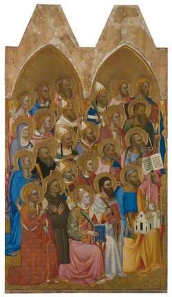 Adoring Saints: Left Main Tier Panel