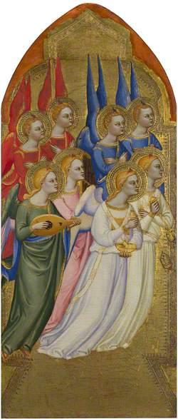 Seraphim, Cherubim and Adoring Angels: Left Pinnacle Panel