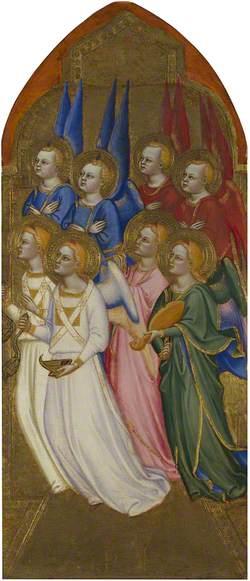 Seraphim, Cherubim and Adoring Angels: Right Pinnacle Panel