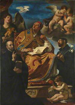 Saint Gregory the Great with Saints Ignatius Loyola and Francis Xavier