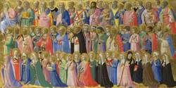 The Forerunners of Christ with Saints and Martyrs: Inner Right Predella Panel