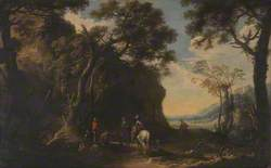 Landscape with Travellers asking the Way