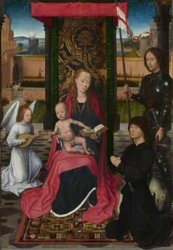 The Virgin and Child with an Angel, Saint George and a Donor