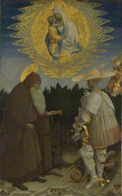 The Virgin and Child with Saints Anthony Abbot and George
