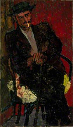 Portrait of a Man Smoking