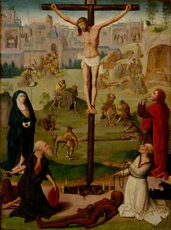 The Crucifixion with Saint Jerome and Saint Dominic, and Scenes from the Passion