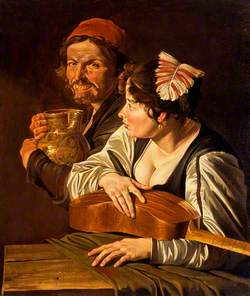 A Man with a Jug and Girl with a Viol