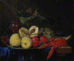 A Still Life with Fruit and Lobster