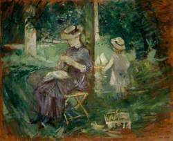 A Woman and Child in a Garden