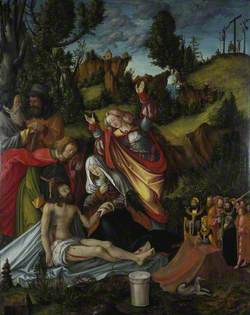 The Lamentation of Christ with a Group of Donors