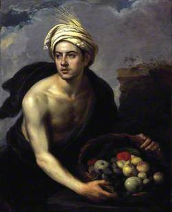 A Young Man with a Basket of Fruit (Personification of Summer)