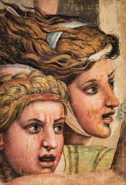 Tapestry Cartoon: Two Heads from the Massacre of the Innocents