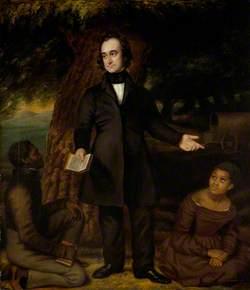 Robert Moffat (1795–1883), Missionary, with John Mokoteri and Sarah Roby